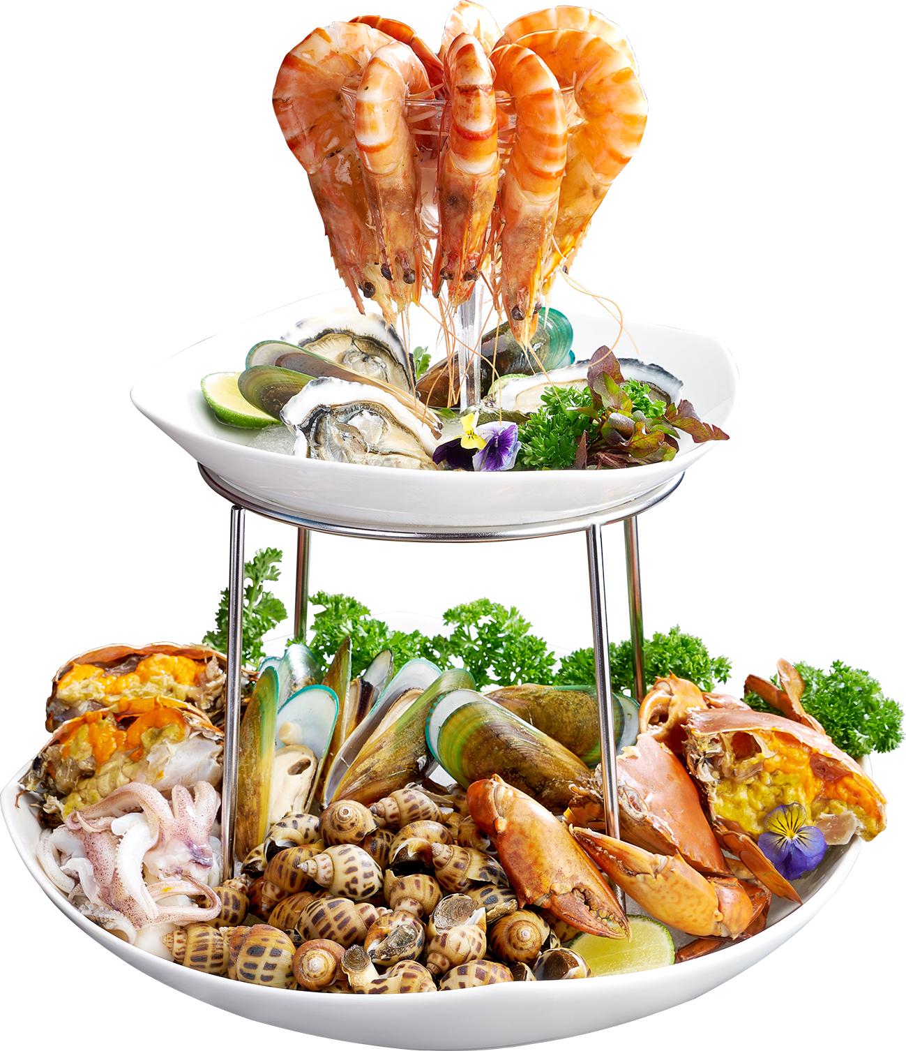 Cold seafood basket